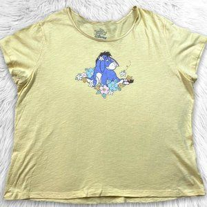Wonderful World Of Disney Pooh Eeyore Pajama Top